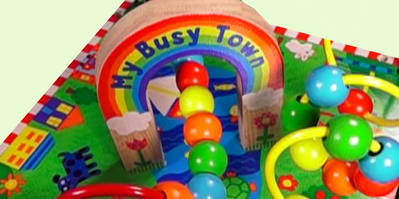 ALEX My Busy Town Wooden Activity Cube application
