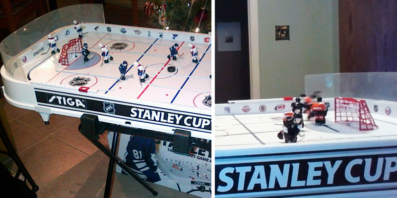Stiga NHL Stanley Cup Rod Hockey in the use