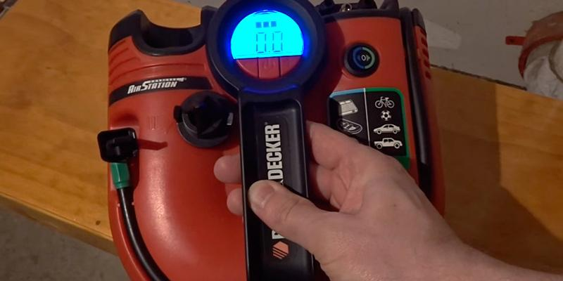 Black & Decker ASI500 Cordless Air Station Inflator in the use
