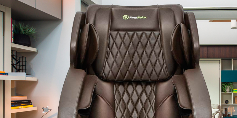 Real Relax Rocking Robotic S Track Massage Chair in the use