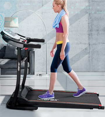 Review of Merax 12 Programs Folding Treadmill for Home