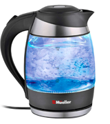 Mueller Glass Electric Kettle Water Heater with SpeedBoil Tech