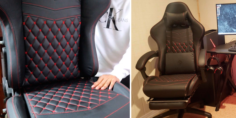 Dowinx Racing Style Gaming Chair with Footrest in the use