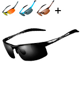 Duco Sports Style Polarized Sunglasses Golf Driving with Unbreakable Frame