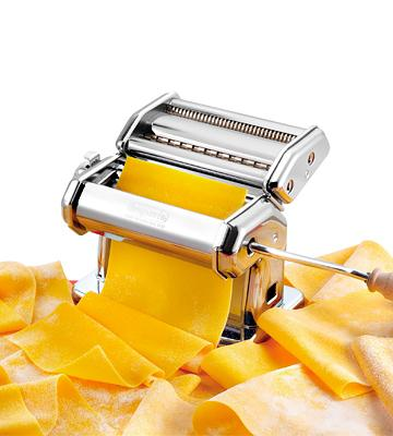 Review of CucinaPro 150 Imperia Pasta Machine w Easy Lock Dial and Wood Grip Handle