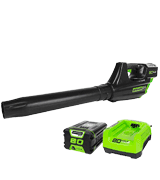 GreenWorks GBL80300 PRO 80V 125 MPH - 500 CFM Cordless Blower, 2.0 AH Battery Included