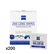 Zeiss 200 Pre-Moistened Eyeglass Cleaning Wipes