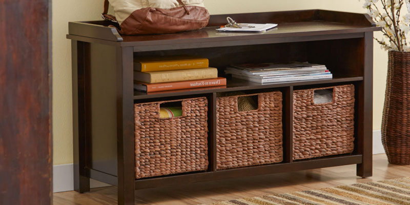 Review of Winsome Wood Storage Bench with Storage Shelf and Rattan Baskets