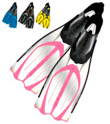 Cressi Pluma Snorkeling Full Foot Pocket Fins