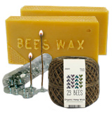 23 Bees Bees Wax Organic Candle Making Bundle Kit
