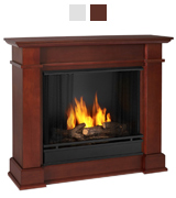 Real Flame Devin Indoor Gel Fireplace in Dark Espresso