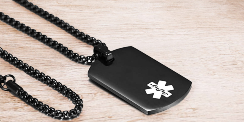 Review of JF.MED PN-YX005BB-20 Medical Alert ID Pendant,Free Engraving