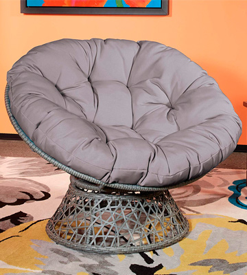 Review of OSP Designs BF25292-GRY Papasan Chair with Poly-fill Cushion