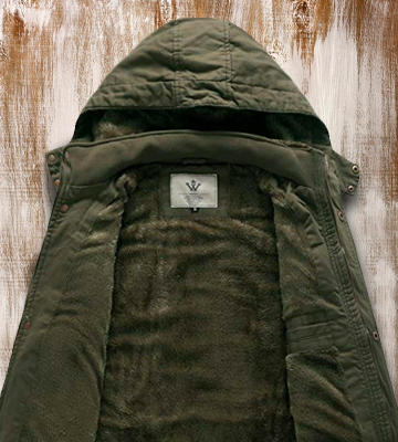Review of WenVen Thicken Cotton Men's Winter Parka Jacket with Removable Hood