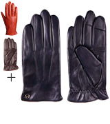 ELMA Luxury Touchscreen Italian Nappa Leather Men's Dress Gloves