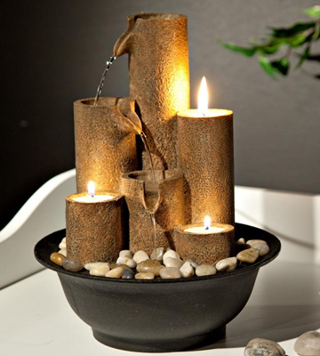 Review of Alpine WCT202 Tiered Column Tabletop Fountain with 3-Candles