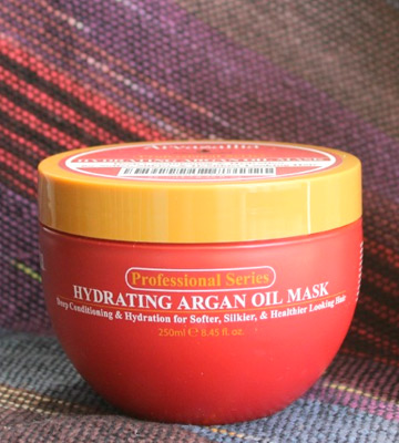 Review of Arvazallia 8.45 Oz Hydrating Argan Oil Hair Mask and Deep Conditioner for Dry or Damaged Hair