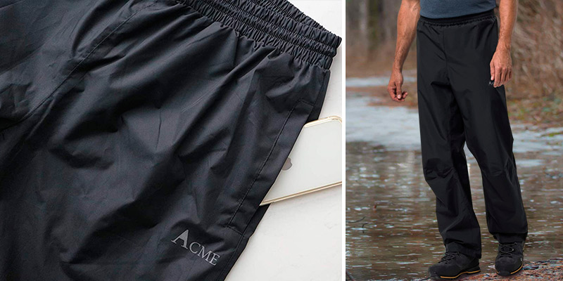 Review of Acme Projects Breathable, Taped Seam Waterproof Rain Pants