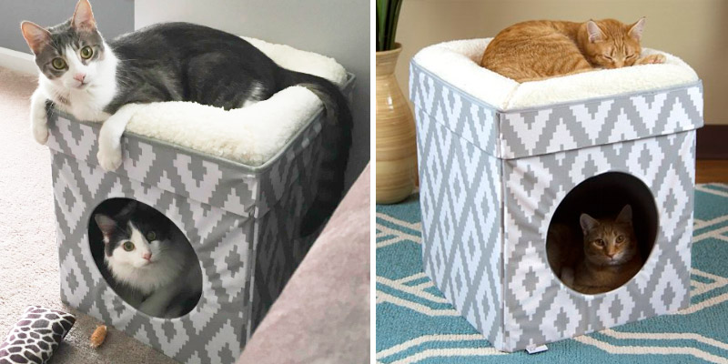Review of Kitty City Cat Bed Large, Stackable Cat Cube