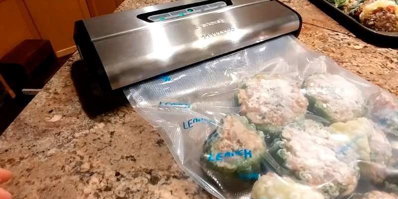 Crenova VS100 Vacuum Sealing System with Starter Kit in the use