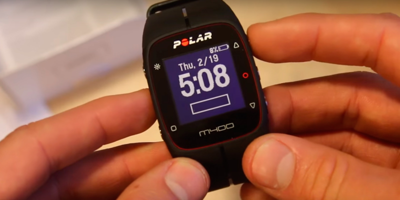 Polar M400 GPS Running Watch in the use