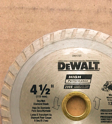 Review of DEWALT DW4725 Diamond Saw Blade for Masonry