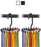 IPOW IP1-201501095 Twirl Tie Rack Hanger Holder Hook