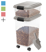 IRIS USA, Inc. 301126 3-Piece Airtight Pet Food Container Combo