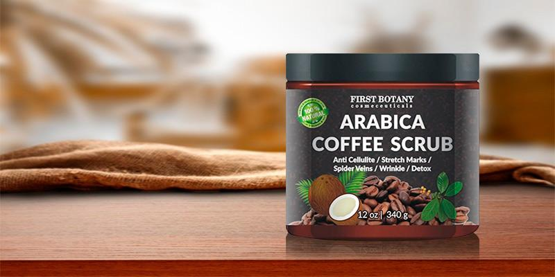 First Botany Cosmeceuticals Natural Arabica Coffee Scrub, Anti Cellulite Cream in the use