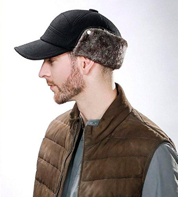 Review of SIGGI Winter Wool Baseball Cap Earflap Fitted Hat