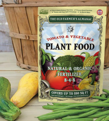Review of The Old Farmer's Almanac Organic Tomato & Vegetable Plant Food Fertilizer