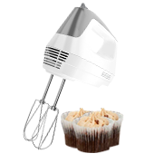BLACK + DECKER MX1500W Lightweight Hand Mixer