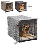 MidWest Homes for Pets Dog Crate Cover Privacy Dog Crate Cover Fits MidWest Dog Crates