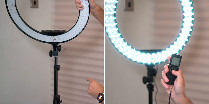 "Review of IVISII 19"" Ring Light Kit with Remote Controller"