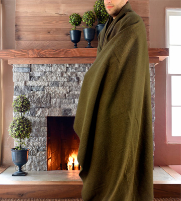 Review of Ever Ready First Aid Fire Retardent Blanket Olive Drab Green Warm Wool