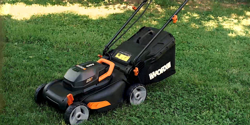 "Review of WORX WG743 40V PowerShare 4.0Ah 17"" Lawn Mower"