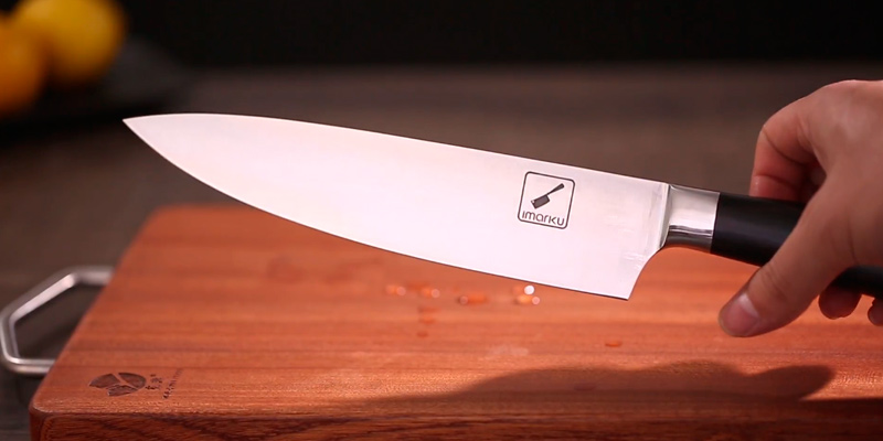 Imarku Professional 8-Inch Chef's Knife in the use