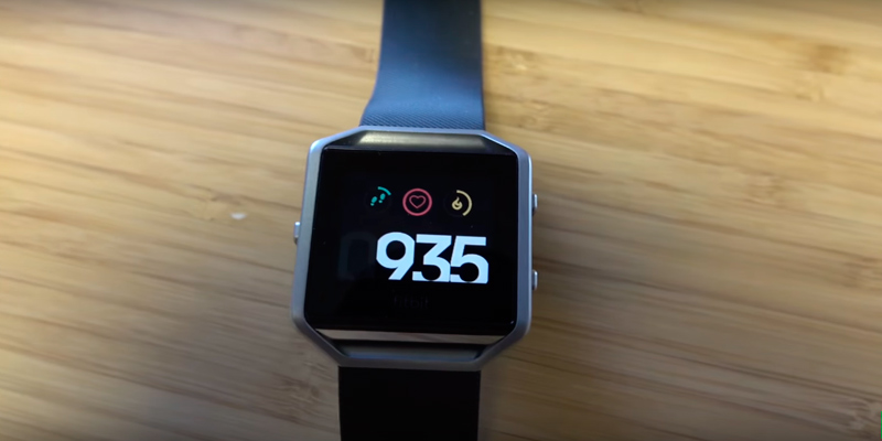 Fitbit Blaze Smart Fitness Watch in the use
