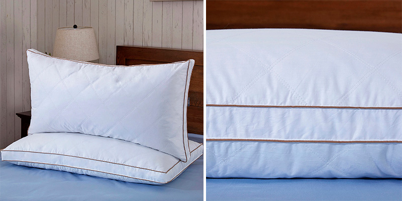 Review of puredown Downproof King Set of 2 Natural Goose Down Feather Pillows