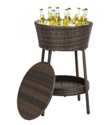Best Choice Products Wicker Patio Cooler with Tray