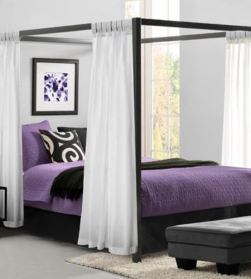 Review of Dorel Home Furnishings 5584296 Modern Canopy Bed Frame