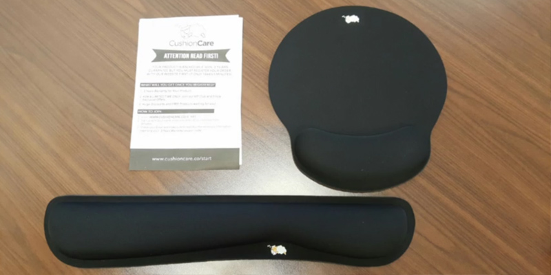 Review of CushionCare Keyboard Wrist Rest & Mouse Pad