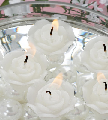 Review of Biedermann & Sons C7808NWT Rose-shaped Floating Candles