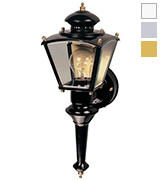 Heath/Zenith HZ-4150-BK Motion-Activated Four-Sided Coach Light, Black Brass