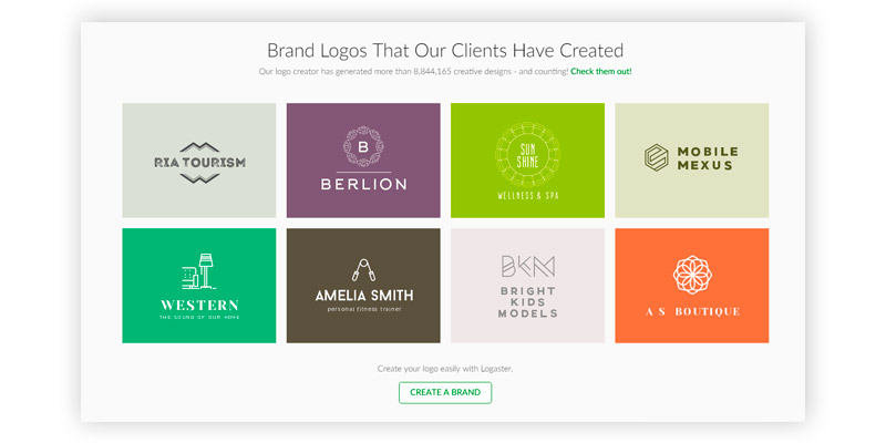 LOGASTER Logo Maker: Create Your Logo Online in a Minute in the use