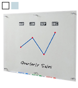 Audio-Visual Direct GB90120-NC Clear Glass Dry-Erase Board 48x36 Inches