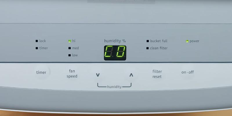 Frigidaire Dehumidifier with Effortless Humidity Control in the use