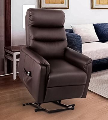 Review of Esright Power Lift Chair Wall Hugger PU Leather with Remote Control