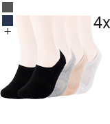 Pro Mountain No Show Socks Flat Cushion Athletic Cotton Footies Sneakers Sports Socks
