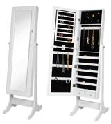 Best Choice Products SKY 1459 Mirrored Jewelry Cabinet Armoire with Stand